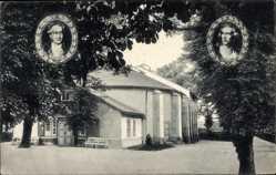 Postcard Bad Lauchstädt im Saalekreis, Das Goethe Theater, Goethe und Schiller
