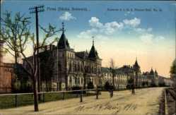 Postcard Pirna in Sachsen, Kaserne d. 1. K.S. Pionier Batl. No. 12