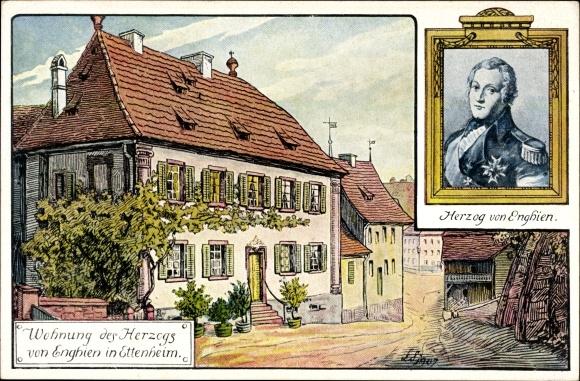 Artiste Carte postale Ettenheim im Ortenaukreis, Wohnung des Herzogs von Enghien