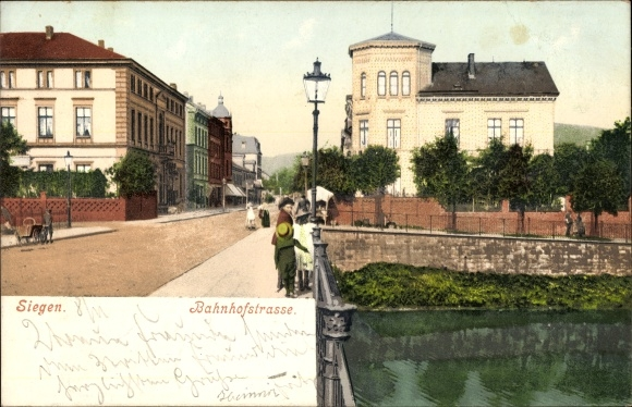 ansichtskarte postkarte siegen in nordrhein westfalen. Black Bedroom Furniture Sets. Home Design Ideas