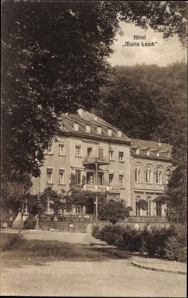 Postcard wehr eifel rheinland pfalz hotel maria laach Designhotel rheinland pfalz