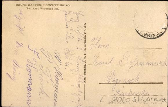 Ansichtskarte postkarte leuchtenburg schwanewede in for Bruns garten leuchtenburg