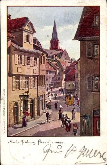 k nstler ansichtskarte postkarte aschaffenburg. Black Bedroom Furniture Sets. Home Design Ideas