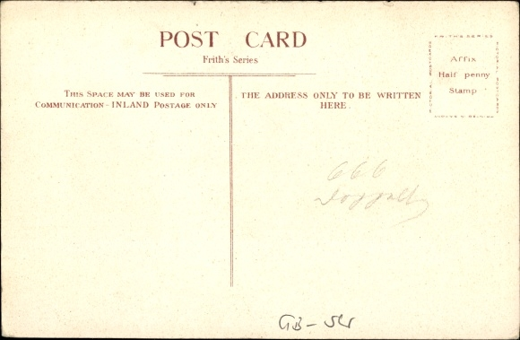 Postcard Tiverton South West England, Blundell'