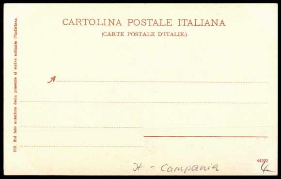 Backside Postcard Sorrento, Vallata dei Mulini, Bachpartie