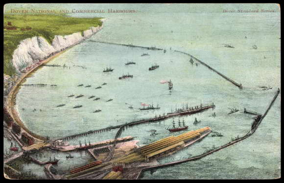 Postcard Dover South East England, Commercial Harbours,Hafen
