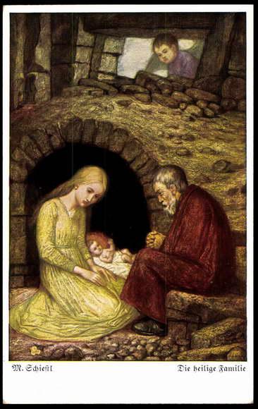Künstler Ak Schiestl M., die heilige Familie