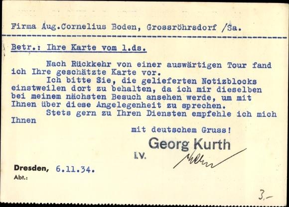 Ansichtskarte Postkarte Dresden Georg Kurth Akpoolde