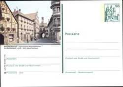 Ansichtskarten Ortspartie Mit Tor Und Kirche Steindruck-ak Bad Mergentheim
