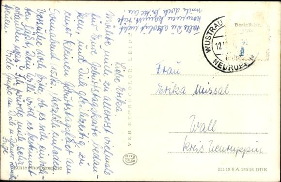 Geburtstagskarte Text 18.Postcard Neuruppin In Brandenburg Strandbad Akpool Co Uk