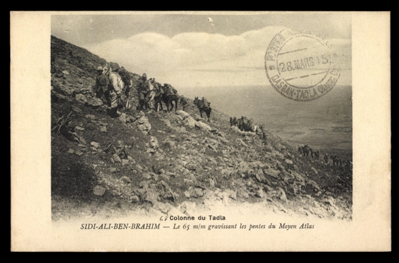Ansichtskarte / Postkarte Tadla Marokko, Sidi Ali Ben Brahim, Atlas, Karawane