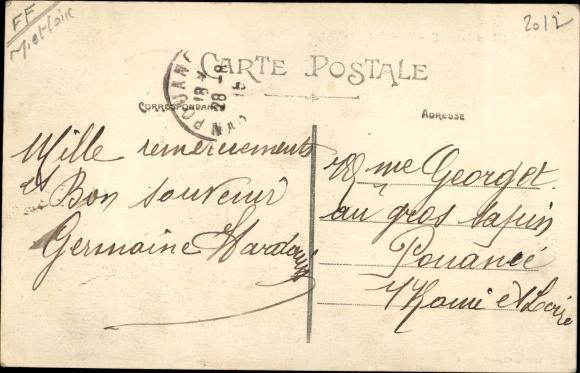 Postcard Corné Maine Et Loire Quartier De La Gare La