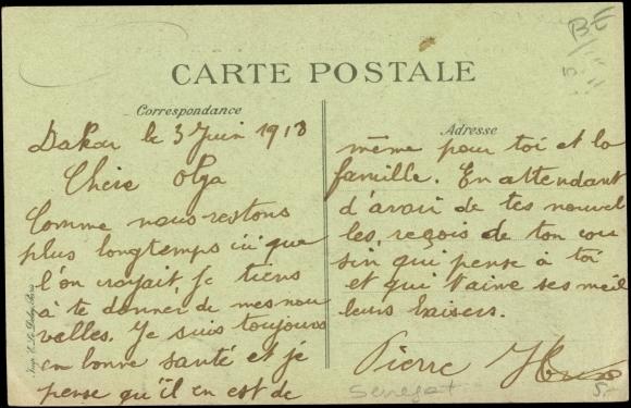 Postcard dakar senegal la place protet le jardin for Le jardin dakar