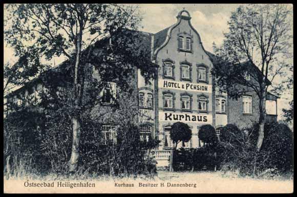 ansichtskarte postkarte heiligenhafen b oldenburg holstein pension kurhaus. Black Bedroom Furniture Sets. Home Design Ideas