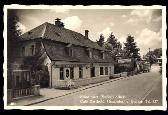 ansichtskarte postkarte hermsdorf kynast riesengebirge konditorei schlesie. Black Bedroom Furniture Sets. Home Design Ideas