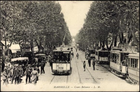 Carte postale marseille bouches du rh ne cours belsunce - Cours de cuisine bouches du rhone ...