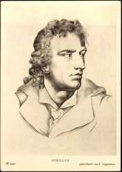 Künstler Ak F. Jagemann, Porträt Friedrich Schiller