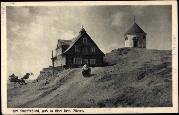 ansichtskarte postkarte kupferberg erzgebirge pension am kupferh bl haus. Black Bedroom Furniture Sets. Home Design Ideas