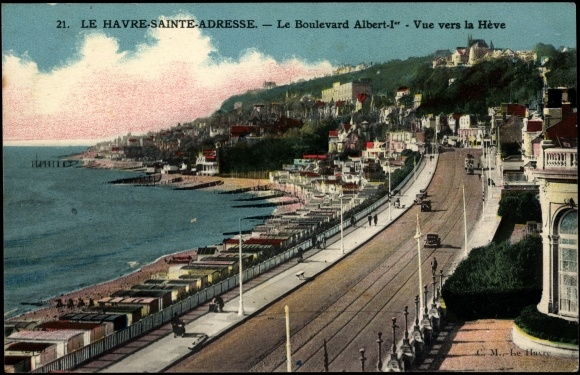 postcard le havre sainte adresse seine maritime akpool. Black Bedroom Furniture Sets. Home Design Ideas