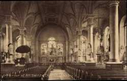 Postcard Derby East Midlands, Interior of All Saints Church