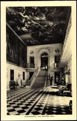 Postcard Chatsworth East Midlands, Painted Hall, Stairs