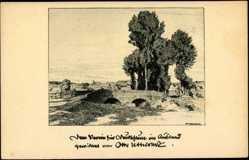 Künstler Ak Ubbelohde O., Hessisches Dorf, Brücke