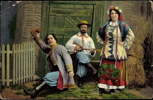 Ukraine zwei Männer und eine Frau