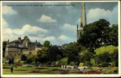 Postcard Leicester East Midlands, Castle Gardens, St Mary