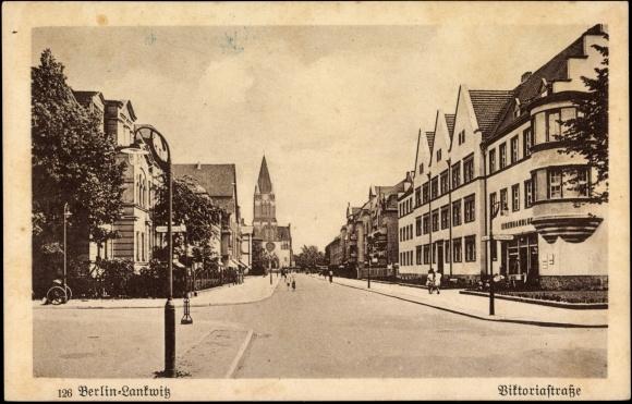 ansichtskarte postkarte berlin steglitz lankwitz viktoriastra e kirche. Black Bedroom Furniture Sets. Home Design Ideas