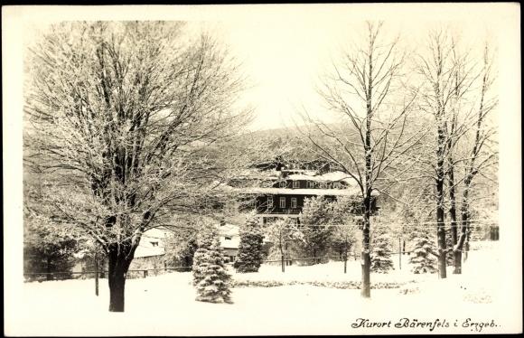 Ansichtskarte / Postkarte Bärenfels Altenberg Erzgebirge, Kurhaus im Winter