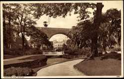 Postcard Buxton East Midlands, Ashwood Park, Viadukt