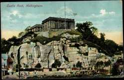 Postcard Nottingham East Midlands, Castle Rock, Building