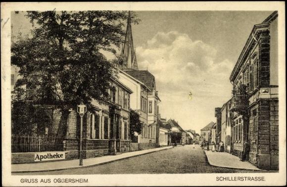 Ansichtskarte  Postkarte Oggersheim Ludwigshafen, Blick