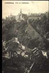 Postcard Pfaffenthal Luxemburg, Blick über die Stadt