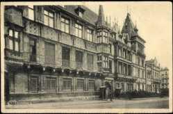 Postcard Luxemburg, Le Palais Grand Ducal, Fassade, Rue