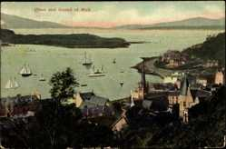 Postcard Oban in Schottland, Sound of Mull, Segelboote