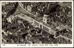 Postcard Nottingham East Midlands, Council House, Long Row