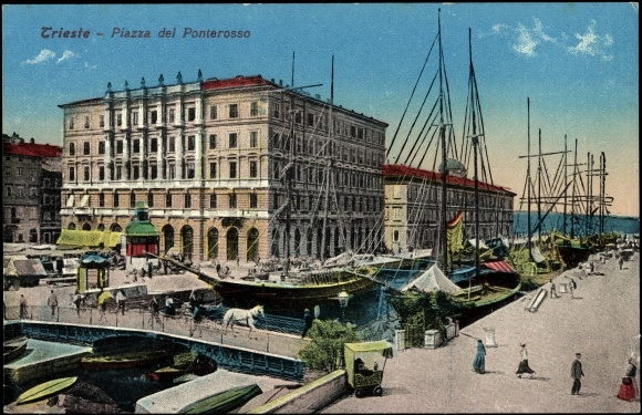 Ansichtskarte postkarte trieste friuli piazza del for Piazza del friuli