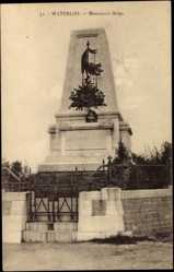 Postcard Waterloo Wallonisch Brabant, Monument Belge