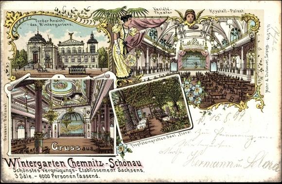 Litho chemnitz sch nau wintergarten krystall palast - Wintergarten chemnitz ...