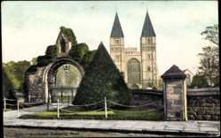 Postcard Southwell East Midlands, Cathedral West, Portal