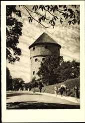 Postcard Tallin Estland, Kick in de Kök, Turm, Passanten