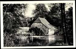 Postcard Rotenbek Kuddewörde, Partie a.d. Grander Wassermühle