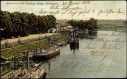 Postcard Nottingham East Midlands, Boulevard, Landing Stage