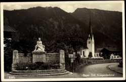 Postcard Bayrischzell Oberbayern, Kriegerdenkmal, Kirche