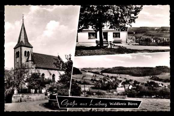 ansichtskarte postkarte leiberg bad w nnenberg pension keuter f ser kirche. Black Bedroom Furniture Sets. Home Design Ideas