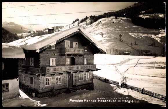 ansichtskarte postkarte saalbach hinterglemm pension penhab hasenauer. Black Bedroom Furniture Sets. Home Design Ideas