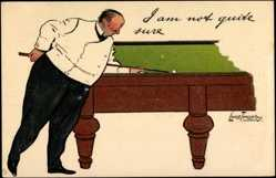 Künstler Litho Thackeray, Lance, Billard,I am not, Tuck