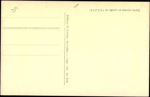 Backside Postcard S.M. la Reine Astrid et le Prince Albert de Liége