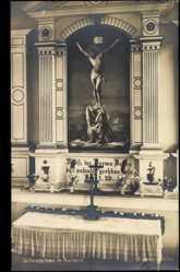 Postcard Kurland Lettland, Schwefelbad,Kirche von innen,Altar